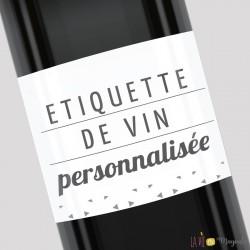 Etiquette de vin personnalisée