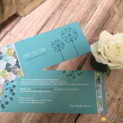 Invitation Floral Turquoise