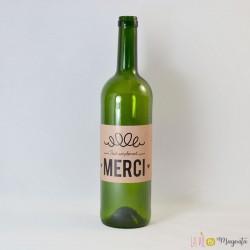 Etiquette de vin Merci