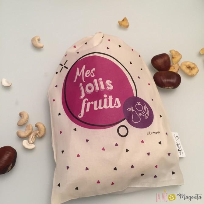 Pack de 3 sacs à vrac - Mes jolis fruits