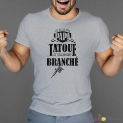 T-shirt Papa tatoué
