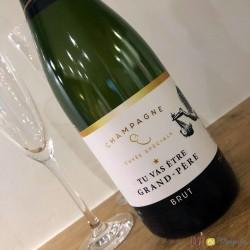 Etiquette champagne grand-père