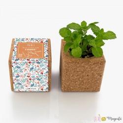 Cube menthe aimanté - Puéricultrice - Merci de m'avoir aidé à grandir