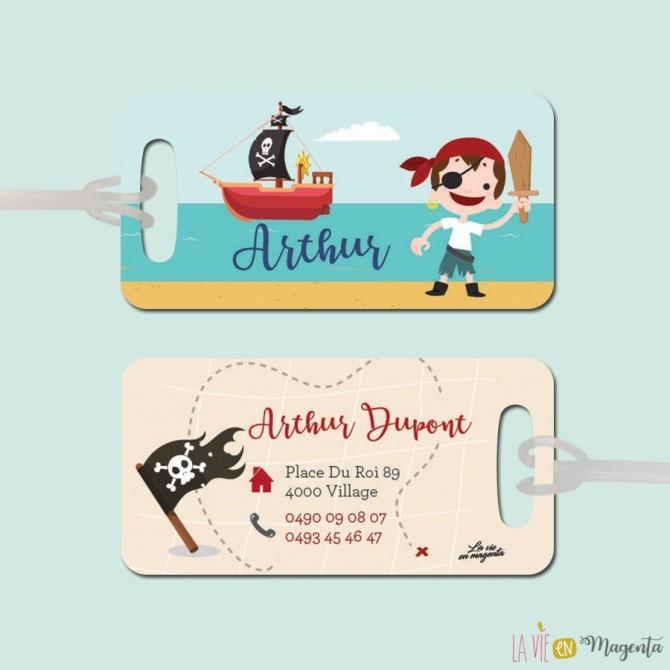 Etiquette bagage pirate