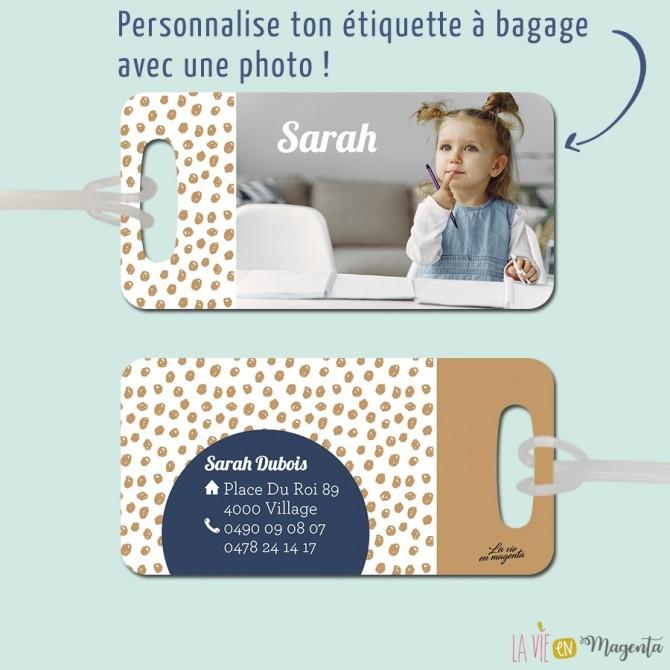 Etiquette bagage personnalisée photo