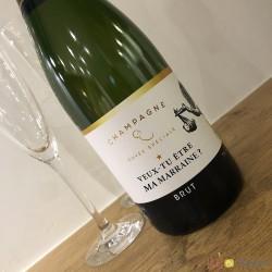 Etiquette champagne marraine