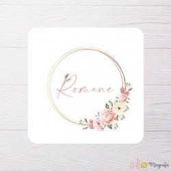 Faire-part Romane en fleurs