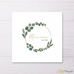 Faire-part Marceau en feuilles