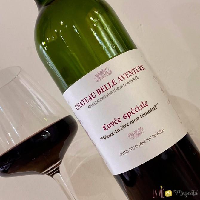 Etiquette de vin témoin