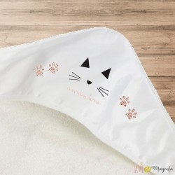 Cape de bain-petit chat