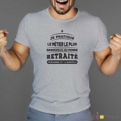 T-shirt retraite métier dangereux