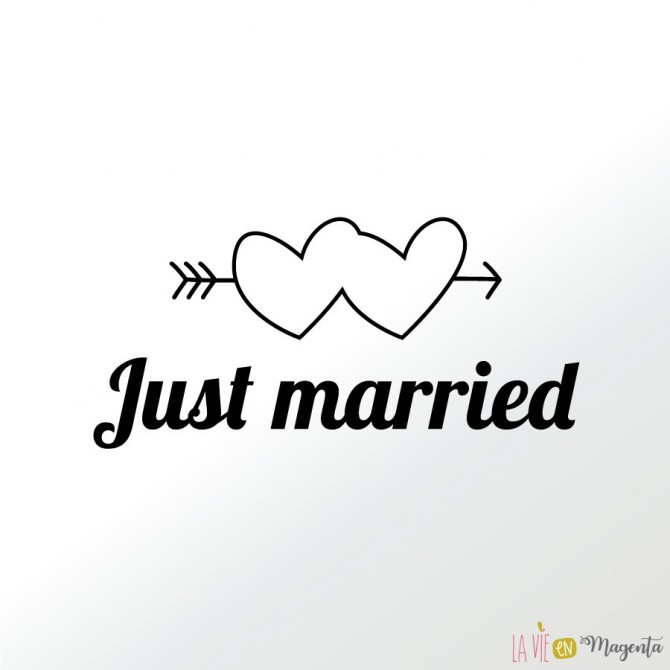 Just married - Stickers voiture