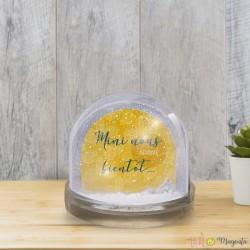 Boule à neige - Mini nous arrive bientôt-moutarde