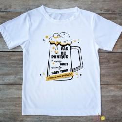 T-shirt Parfois je vomis quand je bois trop, comme mon parrain