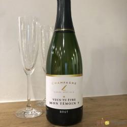 Etiquette champagne mon témoin