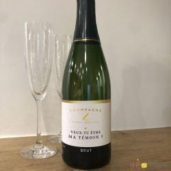Etiquette champagne ma témoin