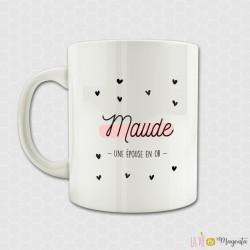 Mug - Epouse en or prénom