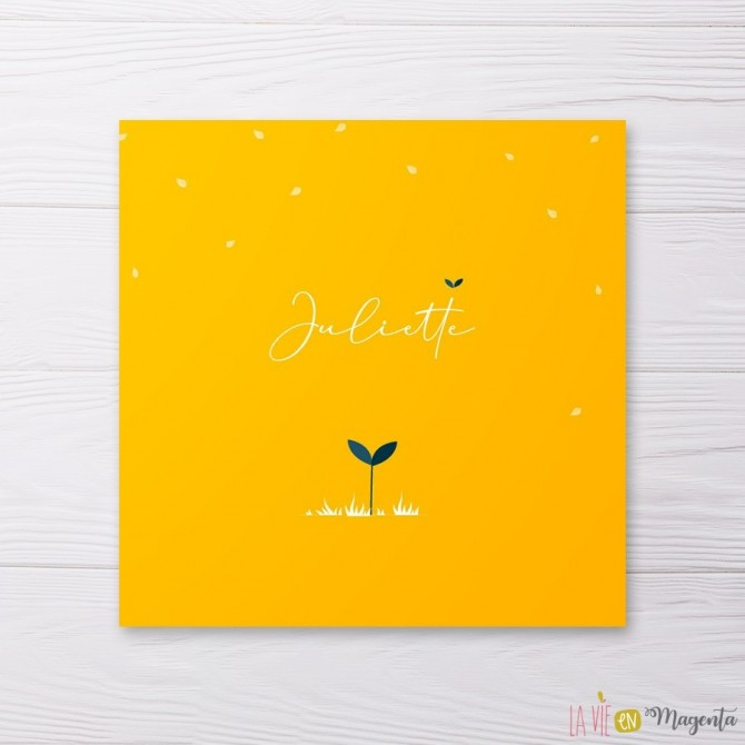 Faire-part Petite fleur
