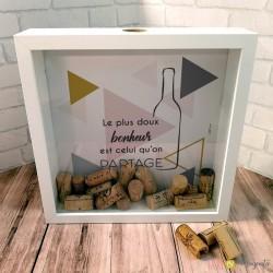 Cadre bouchon de vin - Bonheur partagé