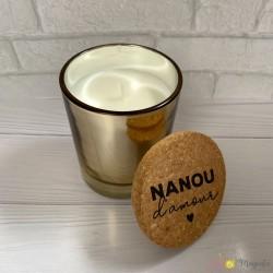 Bougie parfumée Nanou d'amour 8cm