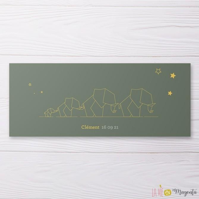 Faire-part Design éléphant