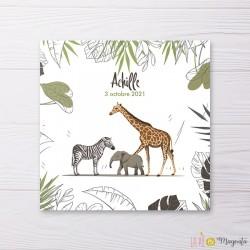 Faire-part Famille jungle sauvage